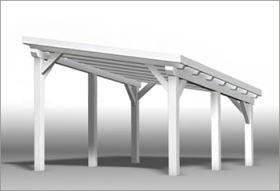 Flachdach oder pultdach als carportüberdachung carport